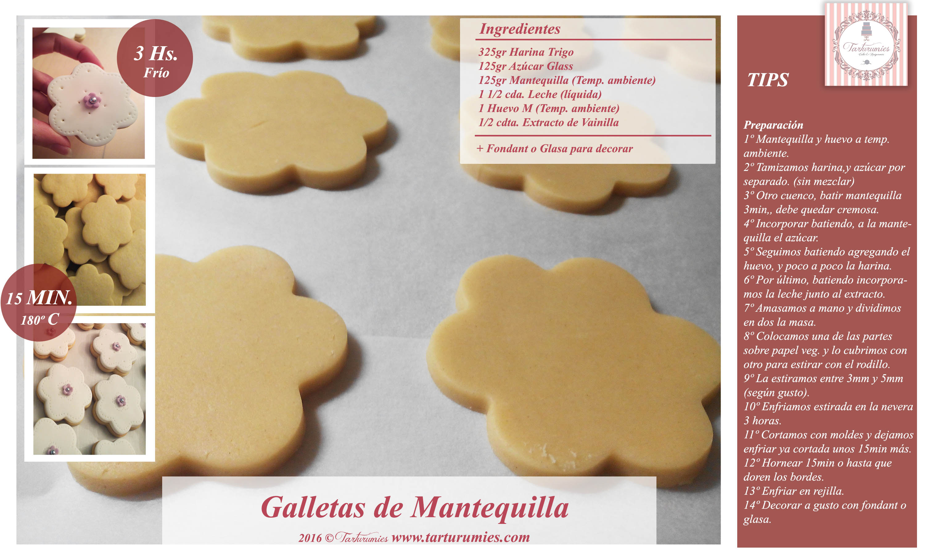 Receta Para Decorar Galletas Con Azucar Glass