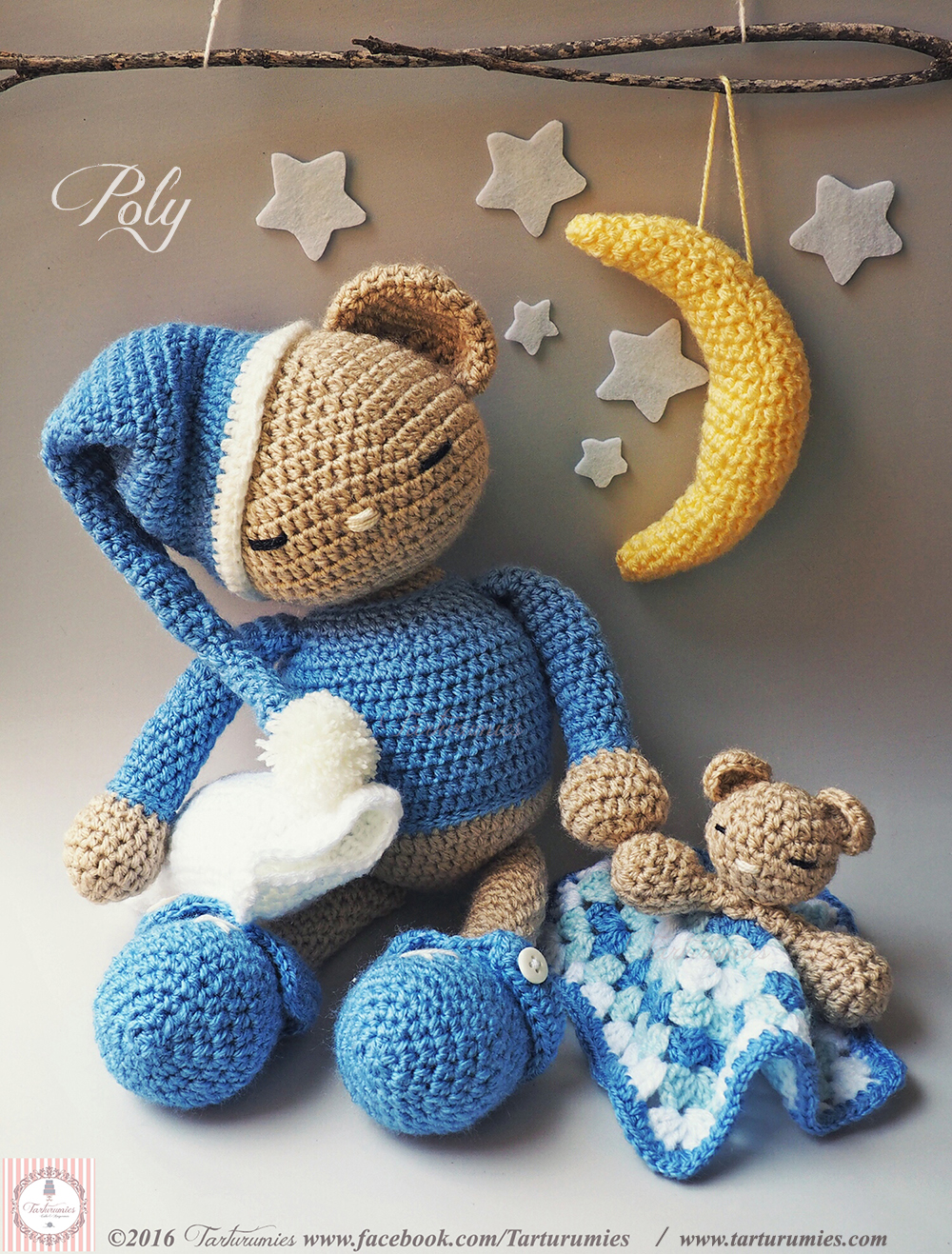 sleepy bear amigurumi by TheArtisansNook on DeviantArt | 1317x1000