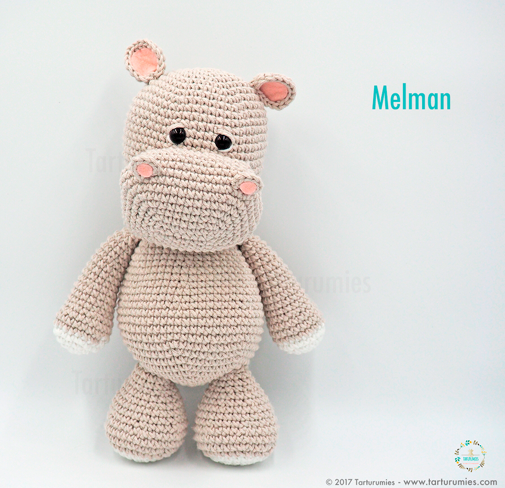Amigurumi Pattern The Hippopotamus Melman And His Friend Pi