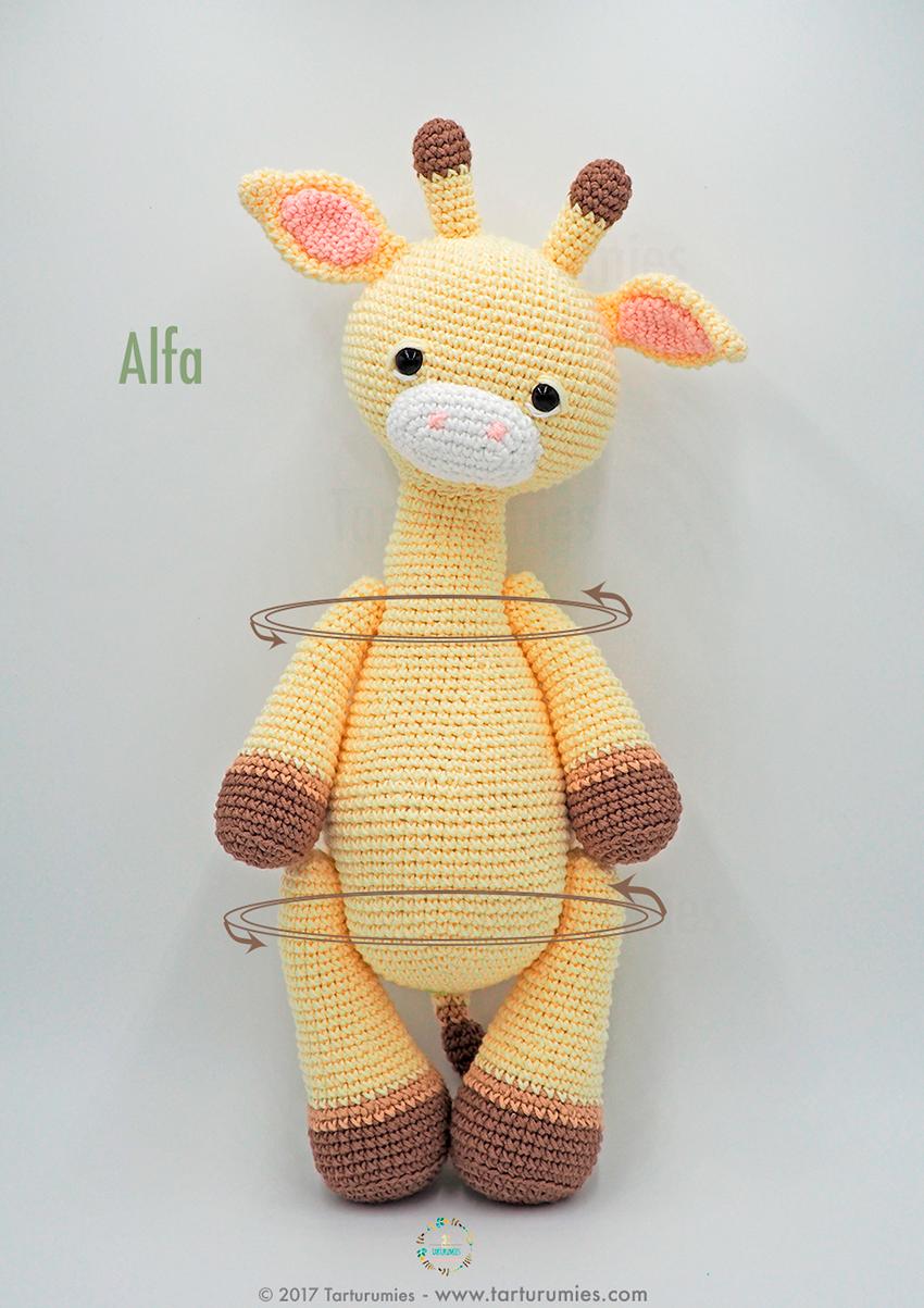 Amigurumi Pattern: Alfa Giraffe – Tarturumies