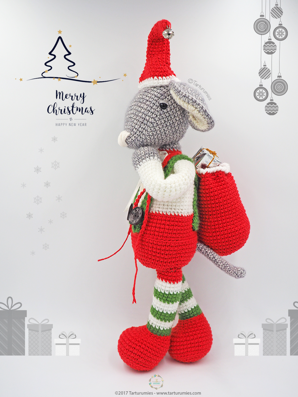 Christmas Decoration amigurumi pattern by RNata | Padrões de ... | 1333x1000