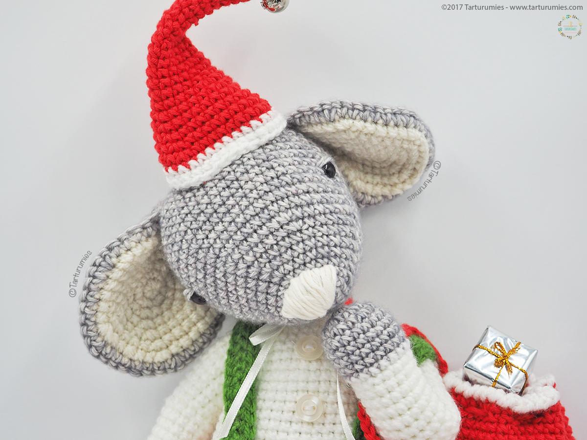 Amigurumi Patrón: Roger el Ratón de Navidad – Tarturumies