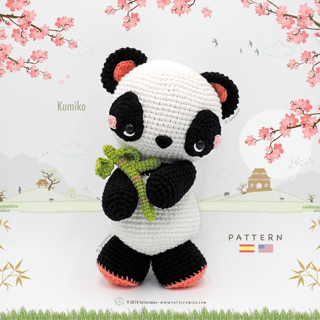 Resultado de imagen para crochet oso panda patron | Oso de ... | 1080x1080