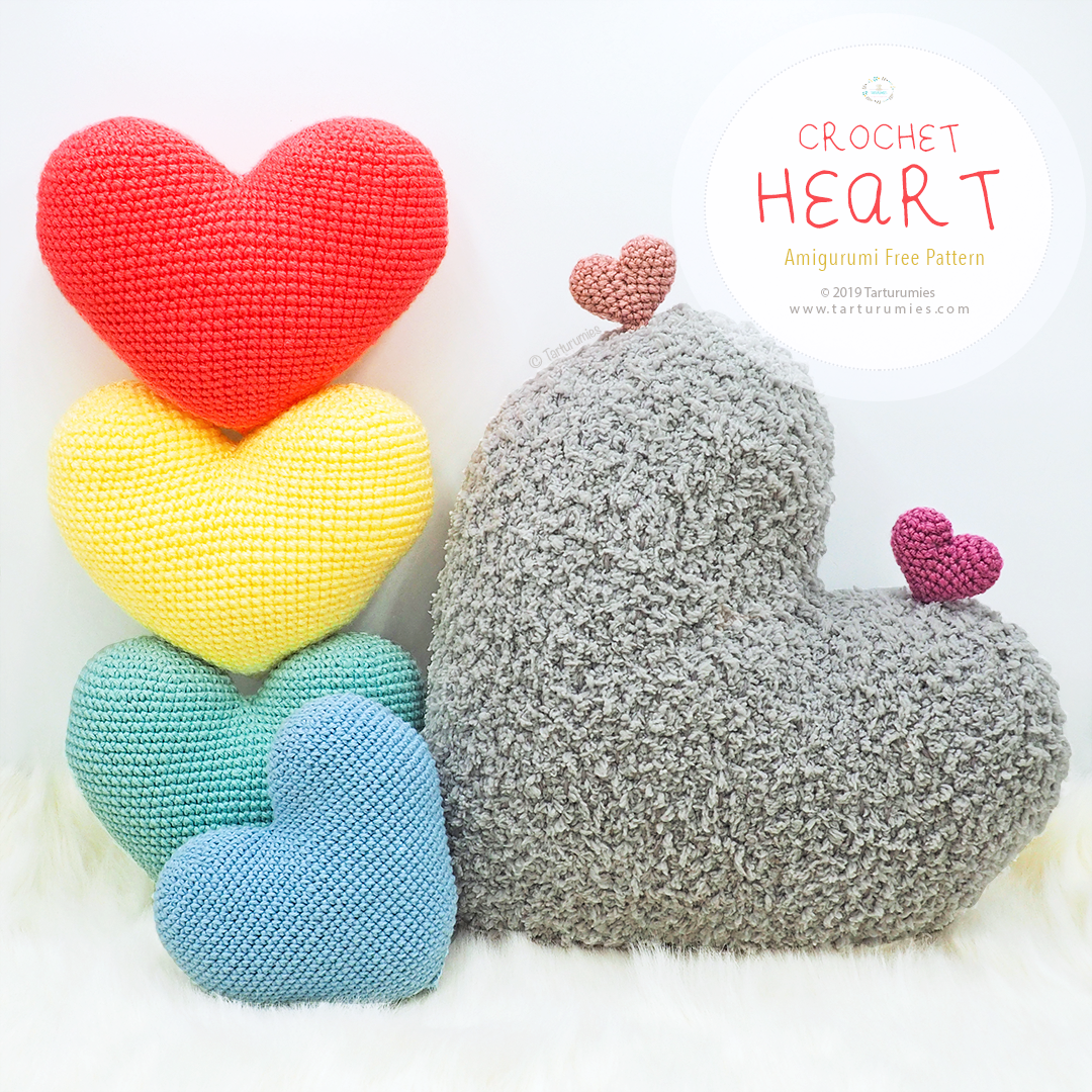 Amigurumi Heart Crochet pattern by Ira Rott | Crochet heart ... | 1080x1080