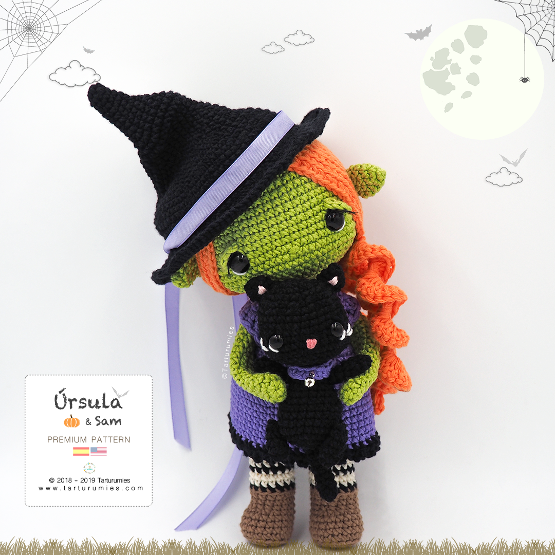 Crochet Toy Patterns Crochet Halloween Black Cat Toy Softies ... | 1080x1080