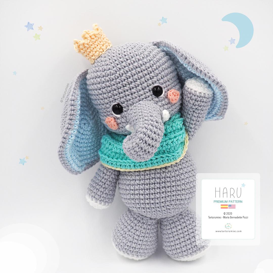 elefante de la india! amigurumi patron gratis | Amigurumi patrones ... | 1080x1080